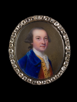 Portrait enamel of Sir Edward Dering, 6th Bt. (1732-1798), Nathaniel Hone the Elder
