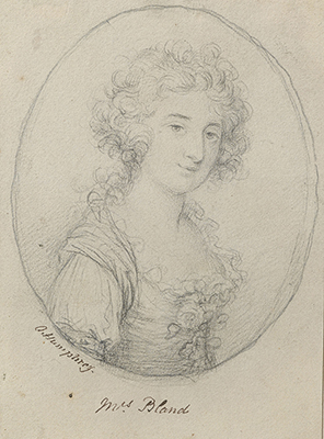 Portrait drawing of Maria Theresa Bland (née Romanzini) (1769-1838), Ozias Humphry RA