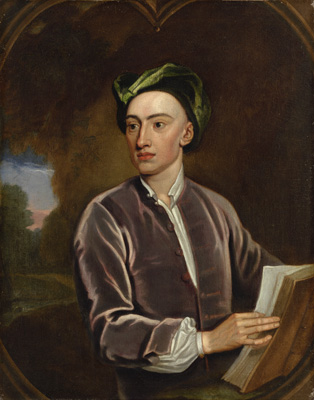 Portrait of Alexander Pope (1688-1744), Studio of Sir Godfrey Kneller Bt