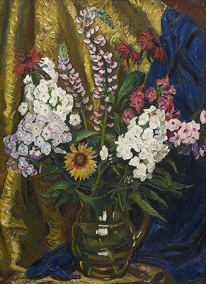 Still Life of Phlox and Lupins, Dame Laura Knight