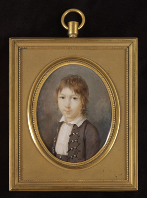 Portrait of a Young Boy in a Grey Jacket, Jean-Antoine Laurent Baccarat