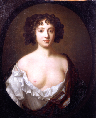 Portrait of a Courtesan, thought to be Nell Gwynn, Sir Peter Lely, Studio of
