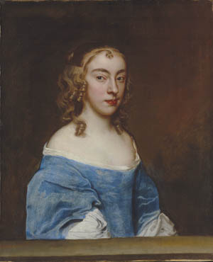Portrait of a young lady in a blue dress, Sir Peter Lely