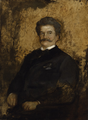 Portrait of Johann Strauss the Younger (1825-1899), 1895, Franz von Lenbach