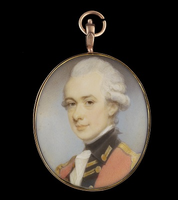 Portrait miniature of an Officer, Jeremiah Meyer RA