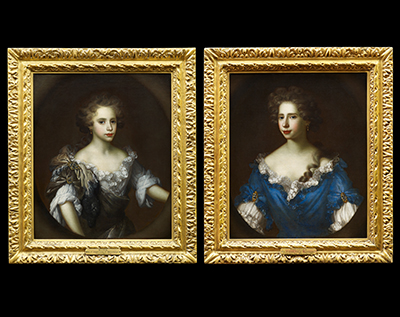 Portraits of Theodora (b.1674) and Ruth Finch (b.1678), Garret Morphy