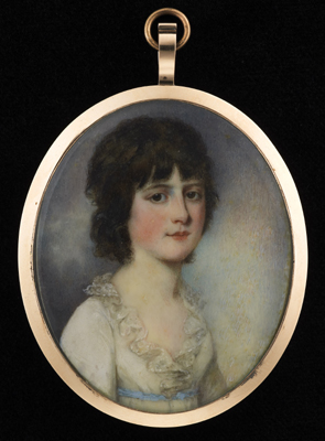 Portrait miniature of a Young Girl, James Nixon