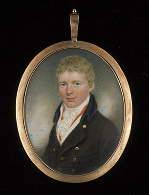 Portrait miniature of a Young Man called Thomas Ritchie, Peter Paillou