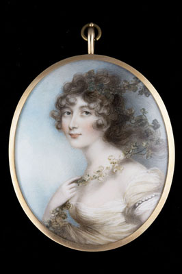 Portrait miniature of Lady Elizabeth Whitbread (1765-1846), Andrew Plimer