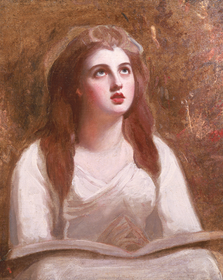 Portrait of Lady Emma Hamilton as St Cecilia (1761-1815), 1780s, George Romney