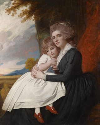 Portrait of Mrs Thomas Raikes, neé Charlotte Finch, with her daughter, c.1787, George Romney