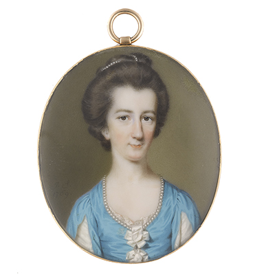 Portrait minature of Abigail Baker-Holroyd (née Way), later Lady Sheffield of Dunamore and Roscommon (d.1793),, John Smart
