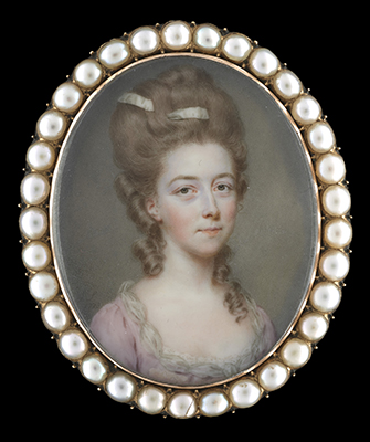 Portrait miniature of Mary Lemaistre (later Baroness Mary von Nolcken) (1744-c.1816), John Smart