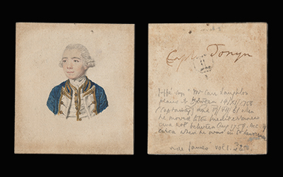 Portrait drawing of Captain George Anthony Tonyn (d.1770), John Smart