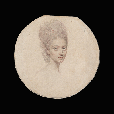 Portrait drawing of a Lady, traditionally identified as Elizabeth Voisey, John Smart