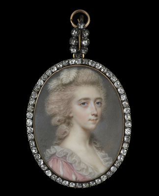Portrait miniature of a Lady of the Darrell family, probably Clarissa Darrell (d.1812), John Smart