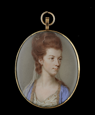 Portrait miniature of a Lady, traditionally identified as Viscountess Townshend, later Anne, 1st Marchioness Townshend (b.c.1752-1819), John Smart