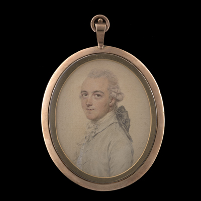 Portrait drawing of Sir John Taylor, 1st Baronet of Lysson Hall, Jamaica (1745-1786), John Smart