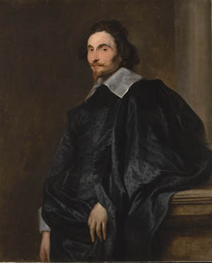 Portrait of a Gentleman, thought to be Abbe Cesare Alessandro Scaglia (1592-1641), Sir Anthony Van Dyck