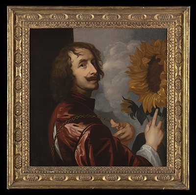 Self-Portrait with a Sunflower, Circle of Sir Anthony Van Dyck