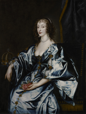 Portrait of Queen Henrietta Maria (1609-69), Studio of Sir Anthony Van Dyck