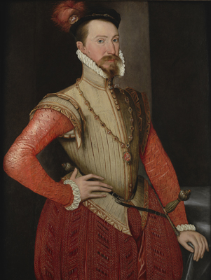 Portrait of Robert Dudley, Earl of Leicester,  English School c.1650