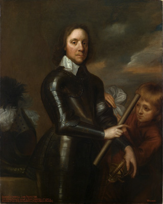 Portrait of Oliver Cromwell (1599-1658) with a Page, Studio of Robert Walker