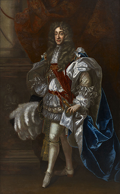 Portrait of King James II (1633-1701), full-length, in Garter Robes, Robert Wignall
