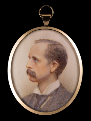 Portrait miniature of James Matthew Barrie, (1860- 1937), Miss Florence Wilmot