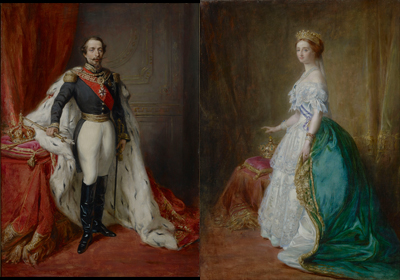 Portrait of Louis-Napoleon Bonaparte, Emperor Napoleon III (1808-1873) and his wife the Empress Eugenie (1826-1920), Franz Xavier Winterhalter & Studio