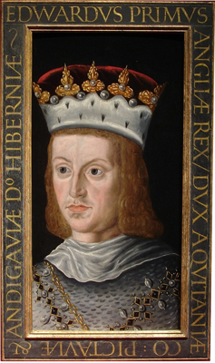Portrait of King Edward I (1239 – 1307) from a set of medieval Kings, Renold Elstrack, or after