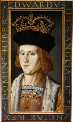 Portrait of King Edward IV (1442 - 1483) from a set of medieval Kings, Renold Elstrack, or after