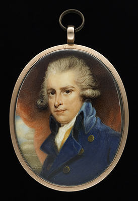 Portrait miniature of Richard Brinsley Sheridan (1751-1816), James Nixon