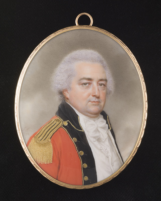 Portrait miniature of a senior official of the East India Company's service, probably a senior officer of the Company's Madras Army, John Smart