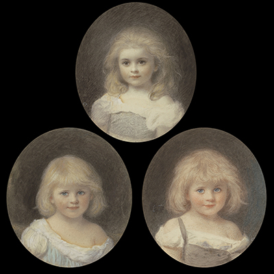 Three portraits of children of the Danish Royal Family, Edward Tayler