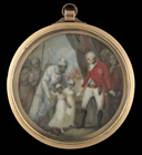 Lt-Gen. Lord Cornwallis receiving as hostages two sons of Tipu Sultan by late 18th century English School