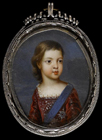 Portrait miniature of Prince James Francis Stuart by  French School