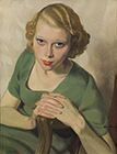 'Sonja in Green' by Sir Herbert James Gunn