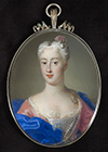 Portrait miniature of a Noblewoman by  Italian School