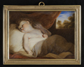 'A Child Asleep', after Sir Joshua Reynolds by Samuel Shelley