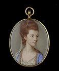 Portrait miniature of a Lady, traditionally identified as Viscountess Townshend, by John Smart