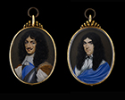 Double-sided portrait miniature of an King Charles II and an unknown Gentleman by Attributed to Nathaniel Thach