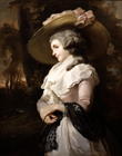 Lady in a straw hat by John Raphael Smith