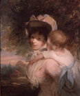 The artist's wife and baby by John Hoppner RA