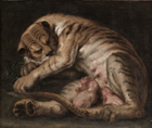 Tigress with her cubs by Follower of Sir Peter Paul Rubens