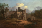 Landscape with ruined castle by Thomas Gainsborough RA