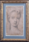 Portrait sketch of a lady by Sir Godfrey Kneller Bt.