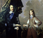 King Charles I and the Duke of York by Circle of Sir Peter  Lely