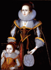 Margaret Phesant and her mother by Paul Van Somer, Follower of