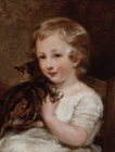 Child with a cat by Margaret Sarah Carpenter